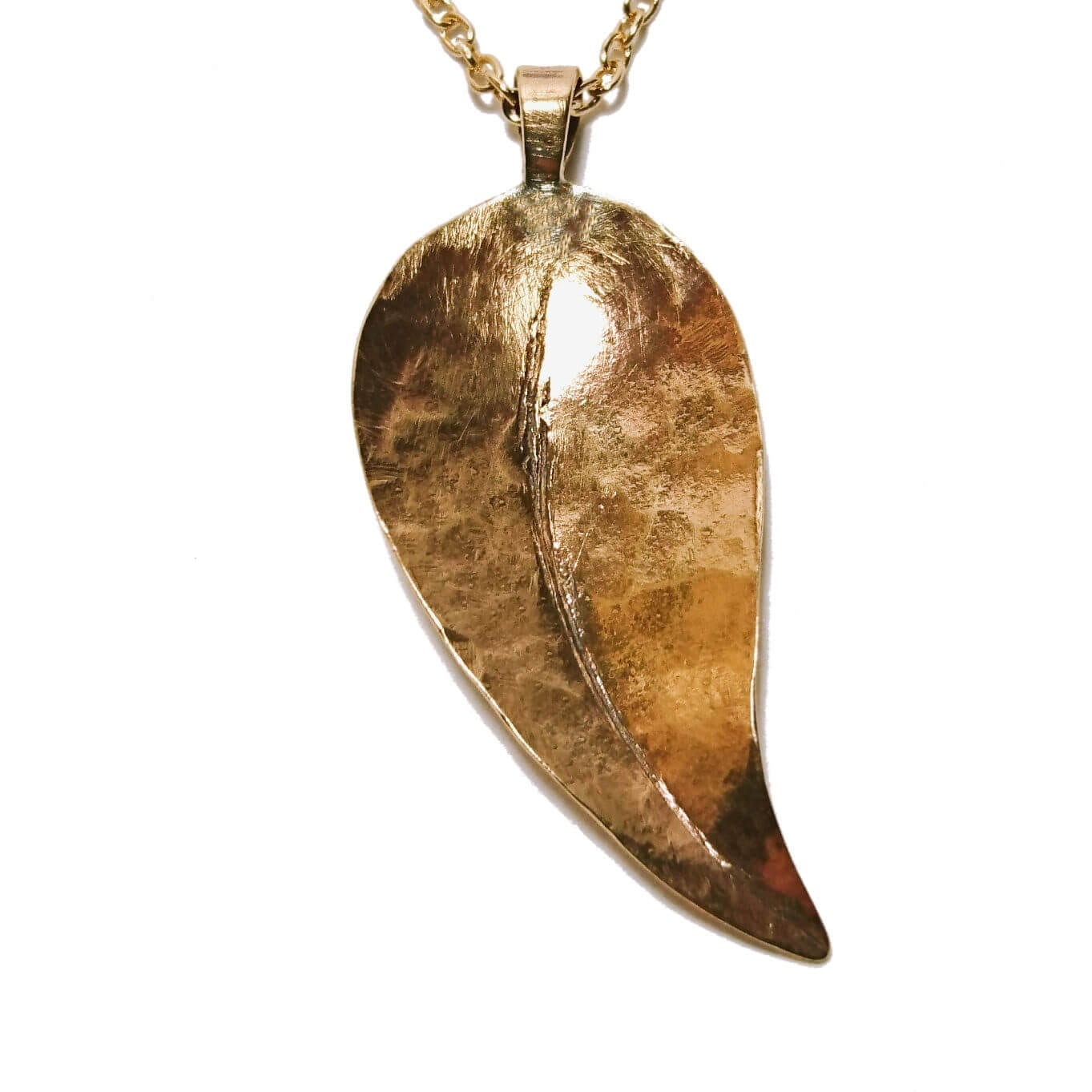 bronze-jewellery-leaf-pendant