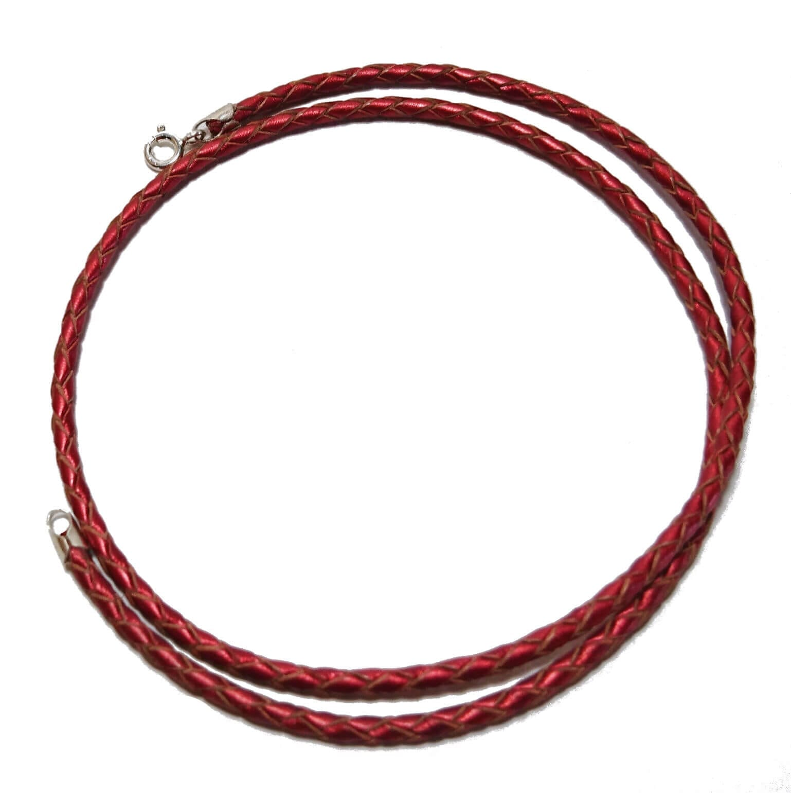 red-metallic-braided-leather-necklace