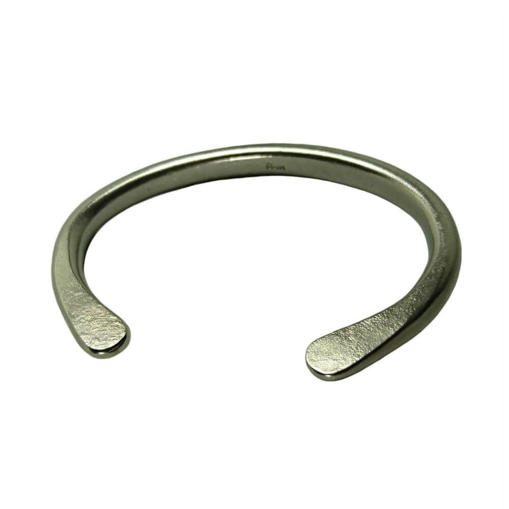 Standard Polished No: 6 - Forged Titanium cuff bracelet.