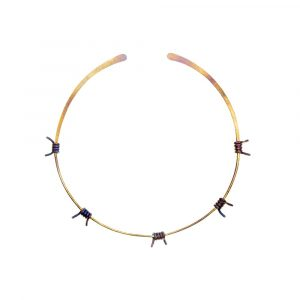 Barbed Wire Choker No:2 Pure Titanium Golden Purple - ViXen zone - by Atkinson-art, Cornwall, England, UK