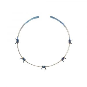 Barbed Wire Choker No:2 Pure Titanium Super Electric Blue - ViXen zone - by Atkinson-art, Cornwall, England, UK