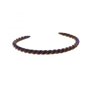 Braided Titanium Bracelet, Golden Purple by Atkinson-art, Cornwall, England, UK