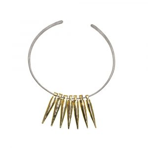 Bullet Gold 7 on Pure Titanium No:3 Choker by Atkinson-art, Cornwall, England , UK