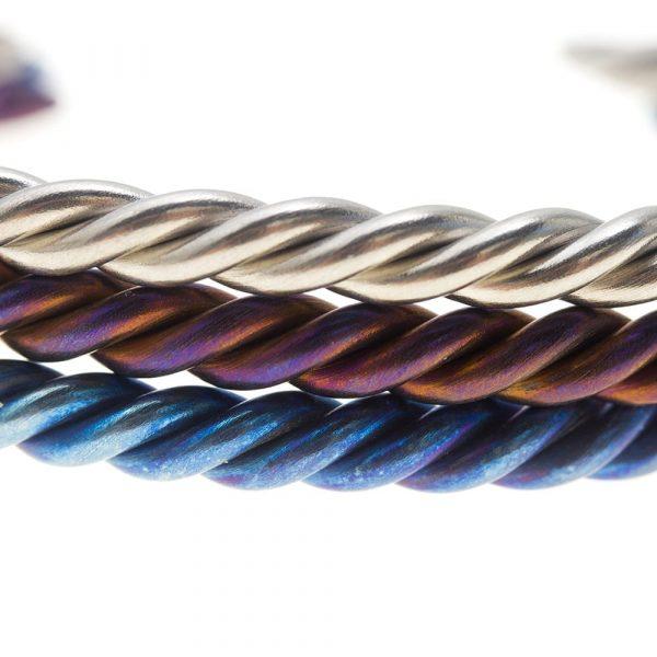 Coloured Braided Titanium Bracelets by Atkinson-art, Cornwall, England, UK