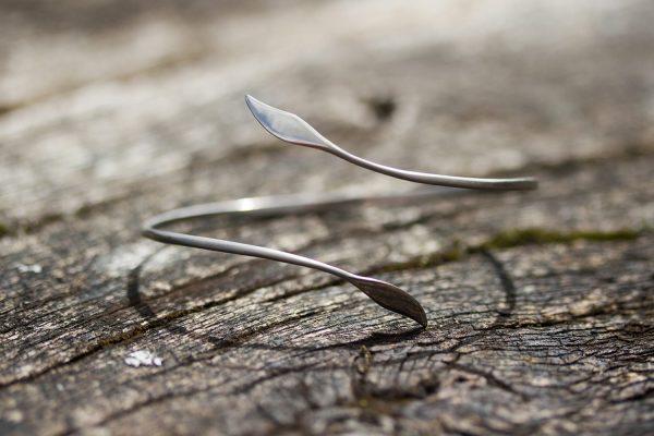 Leaf Forged Titanium Bracelet by Atkinson-art, Cornwall, England, UK
