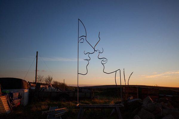 Forget me not - wall art - Forged Steel by Charles Atkinson form Atkinson-art, Cornwall, England, UK