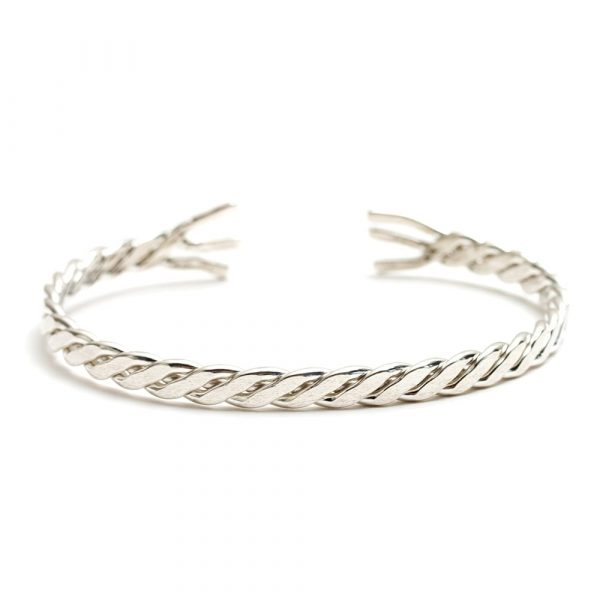 Sterling Silver Wrist Chain Bracelet - handmade in Cornwall by Atkinson-art.co.uk