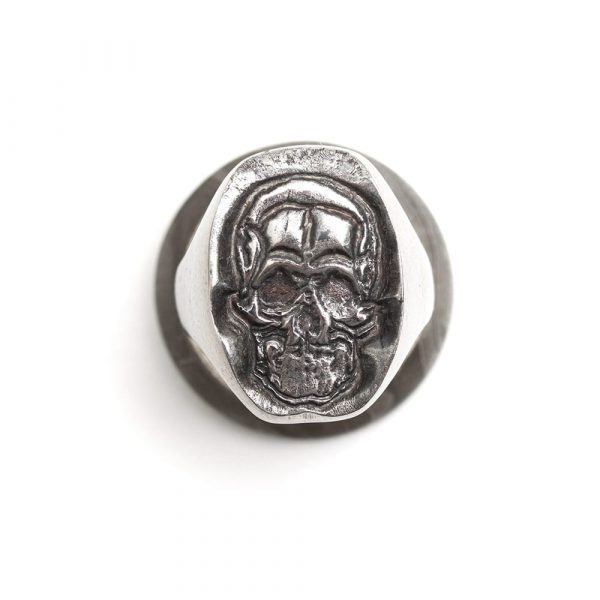 Titanium Skull Ring - seamless and endless jewellery handmade in Cornwall by Atkinson-art.co.uk